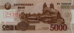 Észak-Korea 5000 won 2013 UNC SPECIMEN