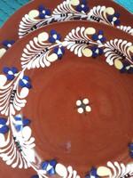 2 db Városlőd kerámia fali tányér