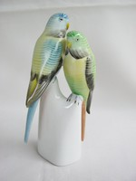 Hollóházi porcelán papagáj pár