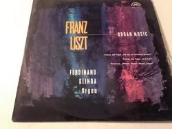 Franz Liszt  Organ music - bakelit lemez 1965  (Orgona muzsika Ferdinand Klinda előadásában