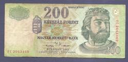 """200 Forint 2001 """" FC """" Sorozat"""