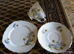 Öt személyes reggeliző készlet, angol porcelán, 15 db-s