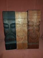 Totemek, 3 db, 35-37 cm magasak, összesen 6 kiló, más színűek, jól néznek ki egymás mellett