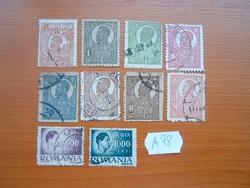 ROMÁNIA 10 DB KIRÁLYOK  VEGYES A78