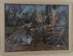 AZONOSÍTATLAN JELZÉSSEL,NAGYBÁNYAI PECSÉTTEL, LELTÁRI SZÁMMAL KVALITÁSOS OLAJFESTMÉNY 54 X 41 cm