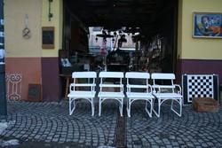 4 db kerti szék az 1900-as évek elejéről - egyben eladóak