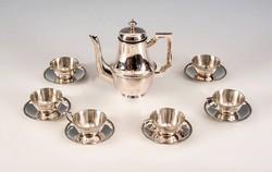 Ezüst kávéskészlet, 6 személyes