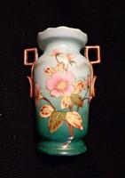1900 körüli kézzel festett, virágos kis váza