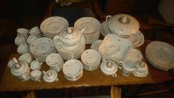 Antik Bavaria 12 személyes porcelán étkészlet