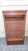 Antik redőnyös polcos rekeszes írószekreter iratszekrény