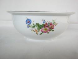 Német porcelán vadvirág mintás tál