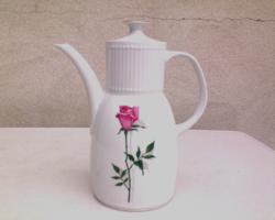 Bareuther Waldsassen rózsás porcelán kávés kanna
