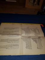 Balogh.Raffay:Épületasztalosság,1887.XI.lap,70x50 cm,megtörve..21 db,természetesen együtt olcsóbb!