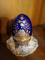 Aranyozott porcelán fabergé tojás