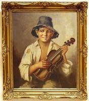 SZÁSZ ISTVÁN /1878 - 1965/: A kis hegedűs