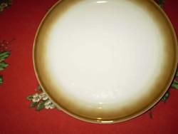 WALKÜRE BAYREUTH  fehér/barna porcelán süteményes kistányér hibátlan 2 db.