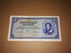Egymilló Pengős bankjegy,1945-ből.