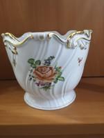 Gyönyörű herendi PBR (Petit bouquet de rose) barokk kaspó hibátlan, sosem használt