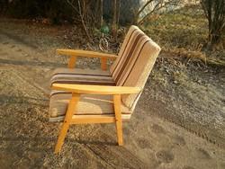 Retro csíkos fotel áthúzásra