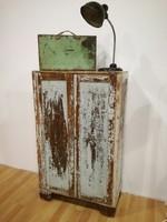 Vintage zöld szekrény, loft, vintage, dekor