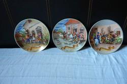 Régi jelenetes falitányérok Németországból 1842-től