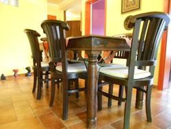Indiai új tömörfa szék teak fa 6 db eladó