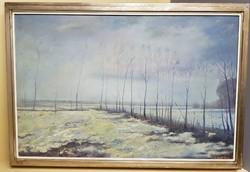 Kádár József Téli táj festmény (592)