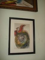 Macskássy Izolda selyemképe
