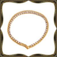 Gold Filled swarovski kristály karkötő GFK55