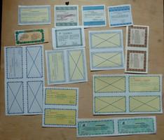 Osztalék jegyek szelvények sok cégtől 1990-es évek