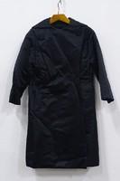 0V124 Régi Hirshleifer elegáns fekete selyemkabát