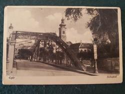 Győr Rábahíd régi képslap