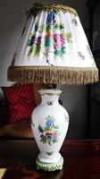 60cm-es QueenVictoria mintás Herendi porcelán lámpa új selyemernyővel