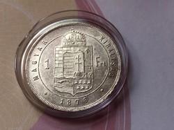 1876 ezüst 1 forint verdefényes,karcmentes,kapszulában így Ritka!!