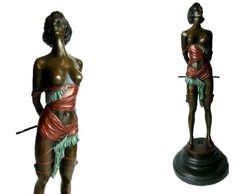 Erotikus női akt - bronz szobor