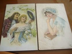 Oltalom/Elmélkedés, antik képeslapok egyben