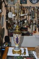 Felújított zsolnay historizáló asztali lámpa