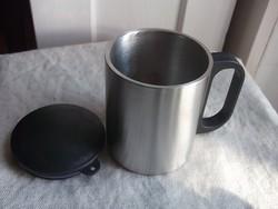 Új-hőtartó-termosz pohár-bögre-kulacs Duplafalú tetővel-túrához,kiránduláshoz is