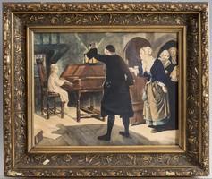 A kis zeneszerző: akvarell
