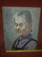 Portré néniről, nívós olajfestmény, méret jelezve!