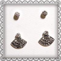 Tibeti ezüst fülbevaló 2 pár TEF-SZ01-2