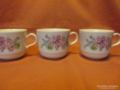 3 db virágcsokros Kahla csésze