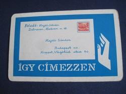 1965. Kártyanaptár - Magyar Posta