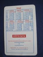 1965. Kártyanaptár - NÉPSZAVA
