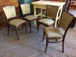 Régi kárpitozott szék art deco étkezőszék