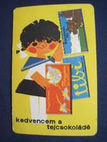 1965. Kártyanaptár - Tejcsokoládé