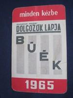 1965. Kártyanaptár - DOLGOZÓK LAPJA