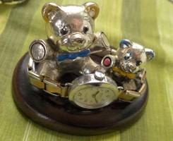 Ezüst-galvan techikaval keszült  macikak
