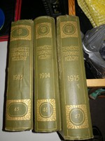 Termeszettudományi közlöny 1913, 1914,1915 teljes év egybekotve! FIX!