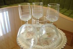 Hiánypótlásra: Parádi csiszolt poharak szép állapotban